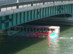 水陸バス橋通過.JPG